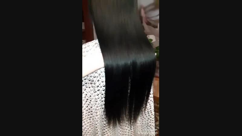 Кератиновое выпрямление волос🌸 До процедуры состав смыт волосы высушены феном без расчески ☝️ Эффект сохраняется 3 6 месяце