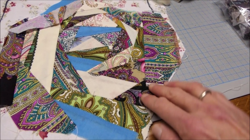 DIY Жилет с открытой спинкой в технике крэзи квилт