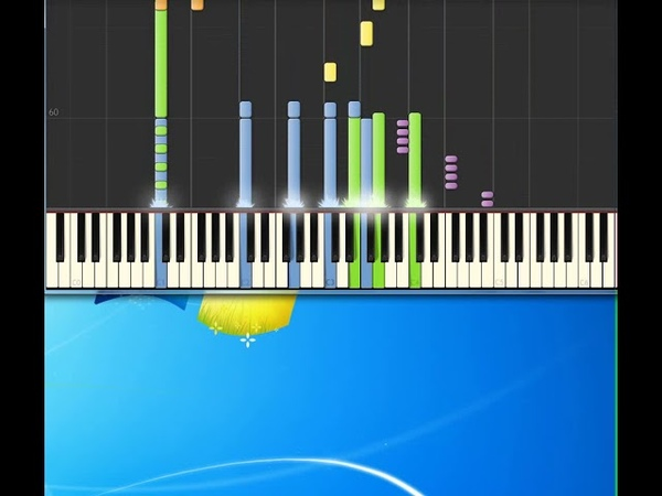 Gery Halliwell It's Raining Men [Synthesia Piano] [Piano Tutorial Synthesia]