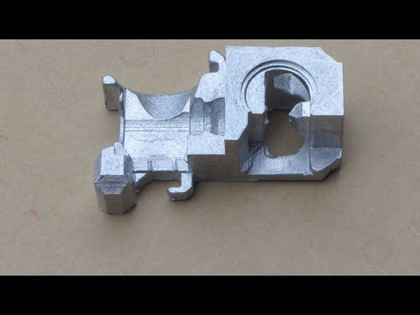 Metal Casting at Home Part 77 Lost PLAGreensand Casting for the Myfordboy 3D Printer