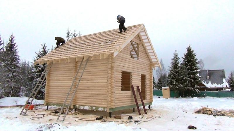 Сруб дома 6.0х6.0м. полтора этажа с обрешёткой Назия. Цена в СПб 178.850 руб