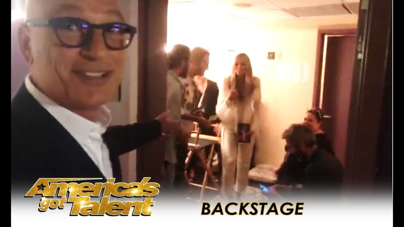 Howie Mandel CRASHES Heidi Klums Dressing Room Backstage AGT Live Shows | Americas Got Talent 2018