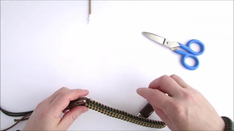 How to Make a Mad Max Style Sanctified Paracord Bracelet-Bonus-Cobra-King Cobra ending knot