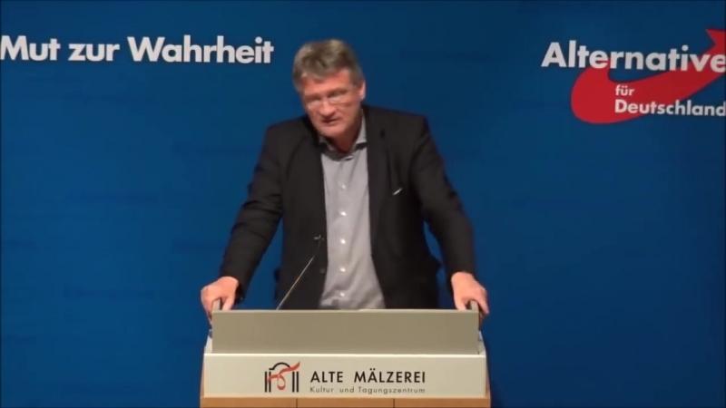 Jörg Meuthen - Merkel ist die schlechteste Kanzlerin der Nachkriegszeit - aber kein Wort zum Hochverrat der ganzen Bundesregieru