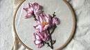 D.I.Y Ribbon Embroidery / Hướng dẫn thêu ruy băng hoa mộc lan