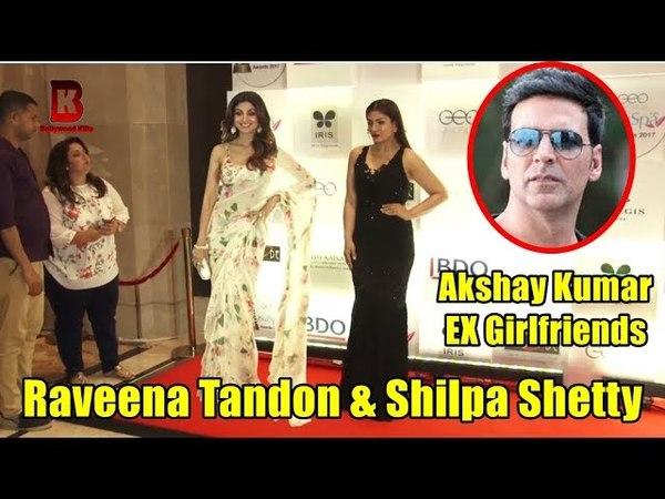 Akshay Kumar EX Girlfriends Raveena Tandon Shilpa Shetty At 11th Geospa Asispa India Awards 2018
