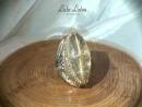 Золотая София. Кольцо с рутиловым кварцем от Lala Lotos