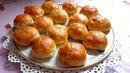 Пирожки c мясом из слоеного теста