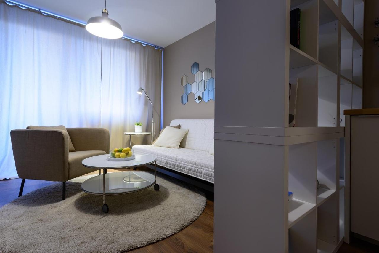 Студия с мебелью из Икеа