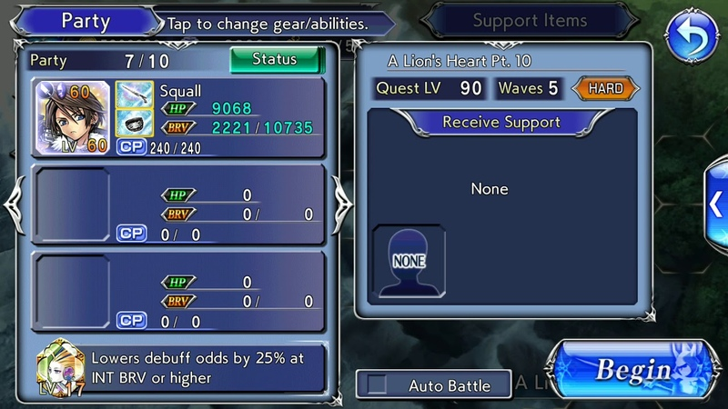 [DFFOO] Squall lost chapter Hard, solo Squall