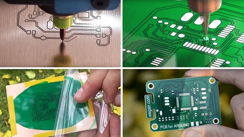 How to make a PCB prototyping with UV soldermask pcb arduino project STEP by STEP
