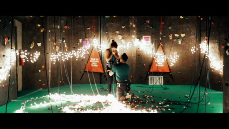 Man Turns Rock Climbing Gym into Picture Perfect Marriage Proposal
