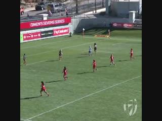 90 метров, попытка новозеландок на Мировой серии #try