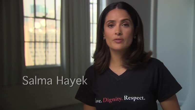 Сальма Хайек в проекте «Domestic Abuse Hotline»