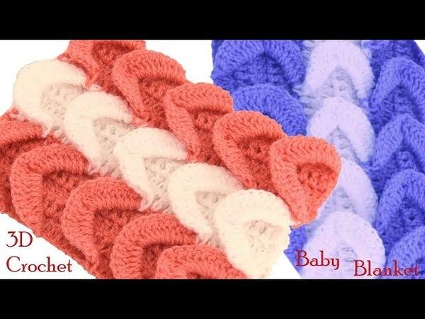 Cobijita bufandas chalinas a Crochet paso a paso en punto ondas en 3D tejido tallermanualperu