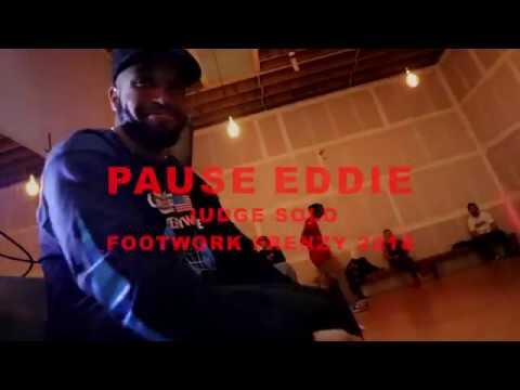 PAUSE EDDIE JUDGES SOLO | chicagoFootwork Frenzy | City Dance Annex | 2018 juke