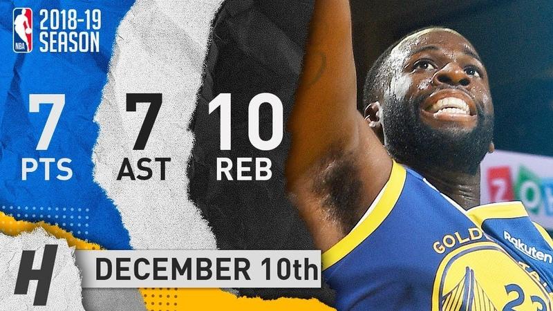 Draymond Green Full Highlights Warriors vs Timberwolves 2018.12.10 - 7 Pts, 7 Ast, 10 Rebounds!