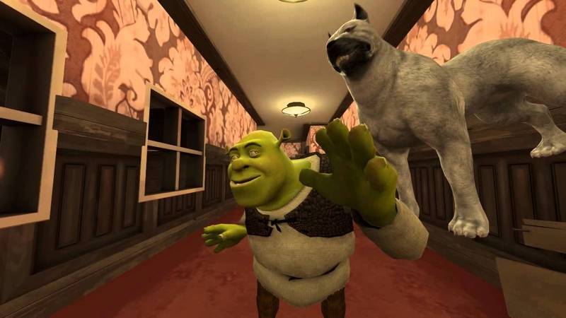 [SFM] Shrek gets spooked.