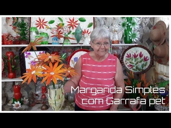 Margarida Simples com Garrafa pet | Vó Neide e suas pets