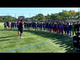 Инфантиль Б и японская академия Барселоны. Тренировка