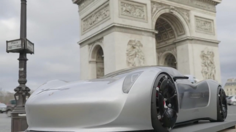 Eric Otto photographs 1_3 Porsche concept cars in Paris (Behind-the-scenes)