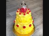 Желтый торт по мотивам мультфильма