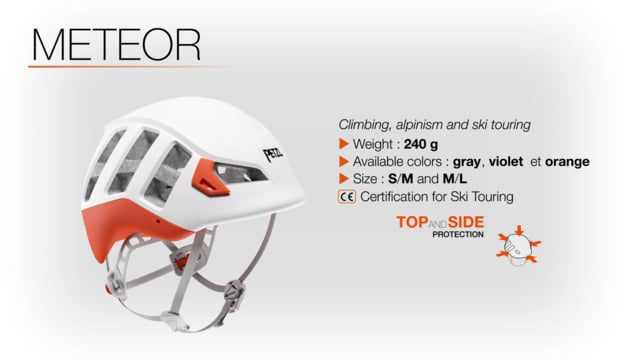 METEOR - Lightweight helmet with enhanced protection for climbing, mountaineering and ski touring