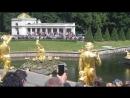 Запуск фонтанов В Петергофе.Музыка из балета Медный всадник.