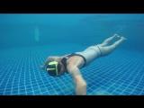 Фридайвинг тренировки в бассейне. Ко Тао, Таиланд