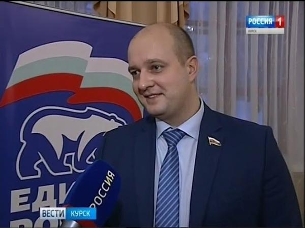 Курян поздравил Дед Мороз Единоросс