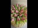 Торт Корзина с тюльпанами