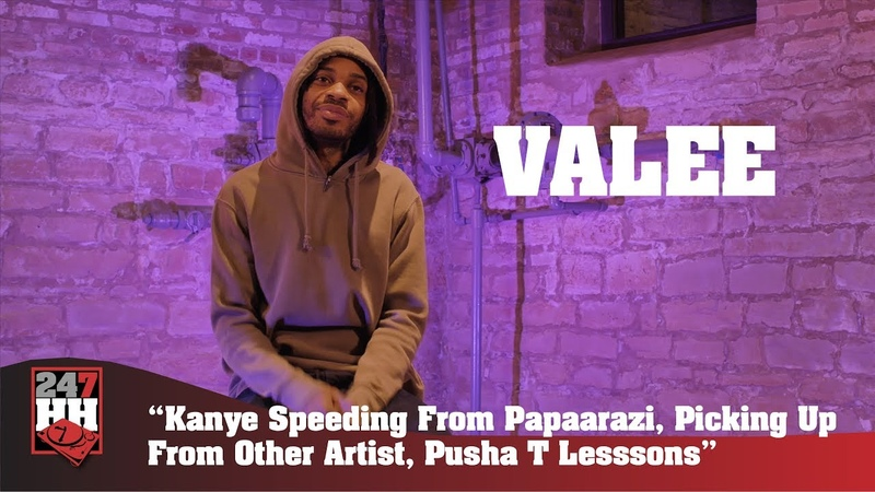 Valee - Kanye Speeding From Paparazzi, Picking Up From Other Artist, Pusha T Lessons (247HH EXCL)