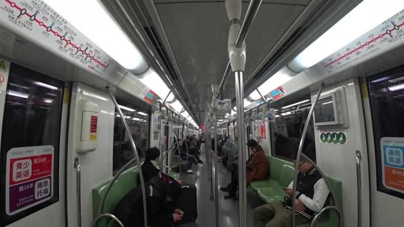 Вагон метро в Шанхае