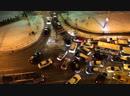 Пробка на въезд в Кудрово со стороны ул Дыбенко