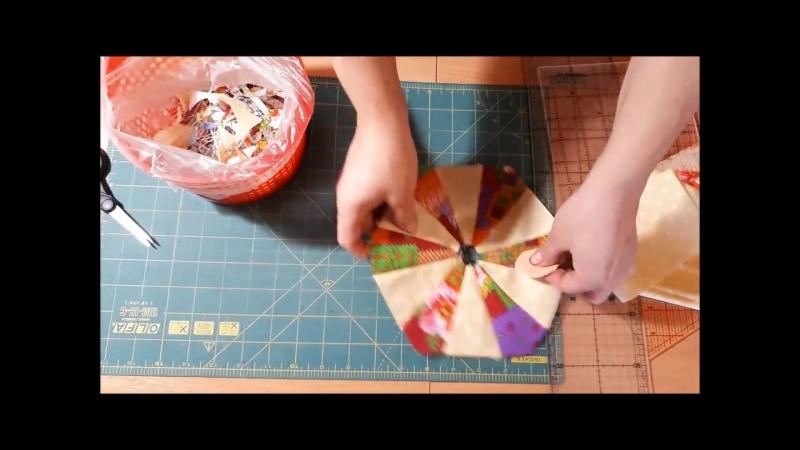 Лоскутное шитье - блок Шестиугольник