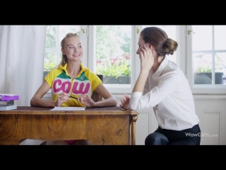 Lesbian seduces her teacher