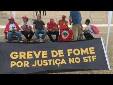 Agora: Direto do STF com a Greve de Fome por Justiça