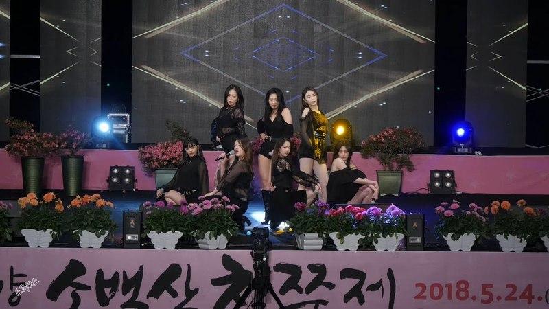 180525 CLC - BLACK DRESS, 전체직캠 (씨엘씨 - 블랙드레스, 4K, FANCAM) @단양 소백산철쭉제 by SPHiNX