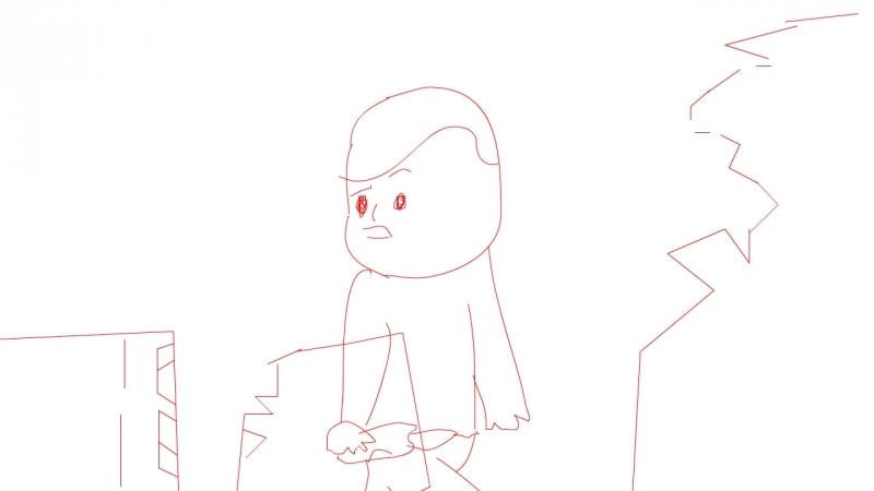 Часть раскадровки новой анимации