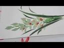 「ほのぼの一筆画」シンビジューム(欄)描き方・水彩画Cymbidium (column) How to draw watercolor paint