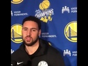 KLAY THOMPS STARTS TEXTING ZAZA MID INTERVIEW AFTER FINDING OUT HE HAS 11 DUNKS TO HIS 1 THIS SEASON