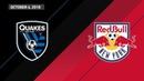 HIGHLIGHTS: San Jose Earthquakes vs. New York Red Bulls   October 6, 2018