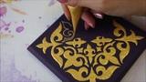 Роспись шкатулки Арабесковый орнамент   Мехенди Акрилом   Валерия Мехренгина