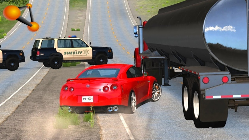 BeamNG.drive - High Speed Lost of Control Crashes