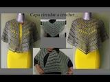 capa circular abierta a crochet