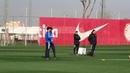 El Sevilla se Entrena tras la Victoria ante la Lazio