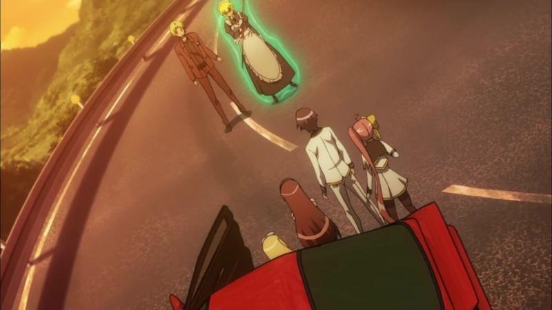 Песнь проклятия для святого рыцаря Seiken Tsukai no World Break 4 серия Ancord Гамлетка Цезаревна