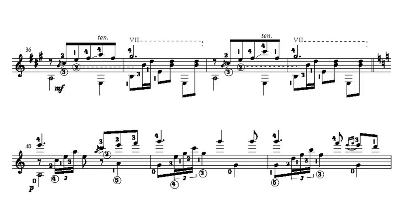 Joaquim Malats Serenata Española for Guitar Score video