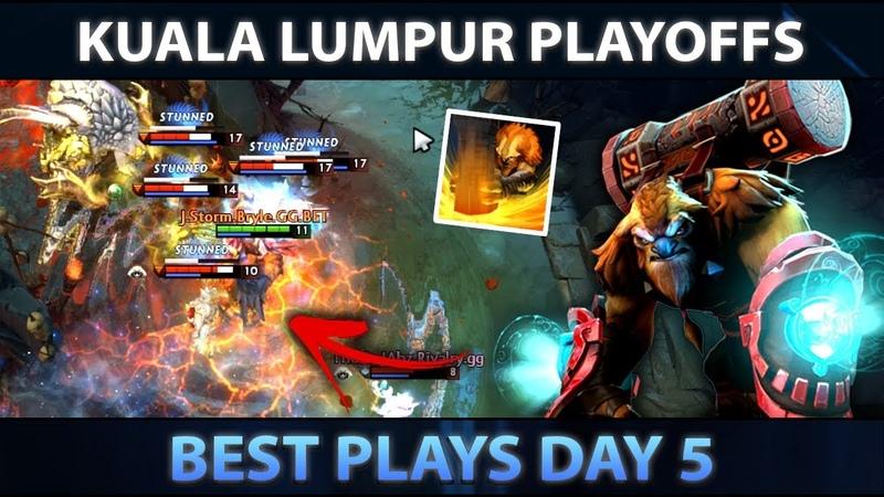 KUALA LUMPUR MAJOR Best Plays of Day 5 Playoffs Dota 2