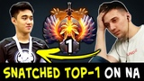 Snatched TOP-1 from Arteezy Abed on NA server